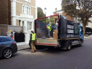 Rubbish Removal in London in progress