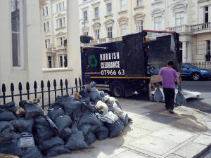 rubbish loading by a man