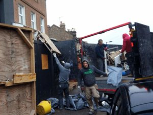 Rubbish removal from commercial site